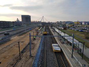 Perron aanpassing op station Haarlem Spaarnwoude.