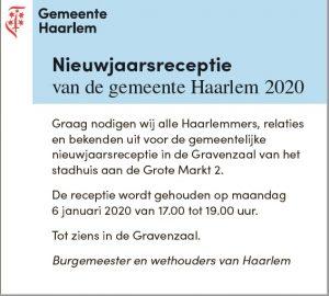 Nieuwjaarsreceptie gem Haarlem